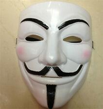 1PCS V  MASK VENDETTA Cosplay  Fancy Costume Guy Fawkes White GL UK