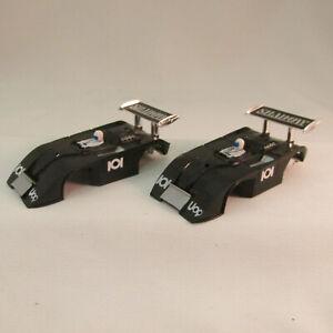 AURORA AFX #1768 BLACK/WHITE #101 SHADOW CAN-AM SHELL ~ NOS ~ 2 PC