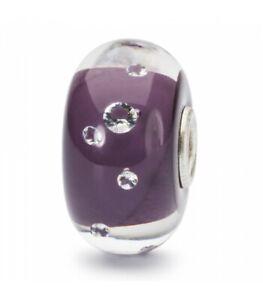 TROLLBEADS Bead in Vetro Diamante Lilla Limited Edition TGLBE-00159 ORIGINALE