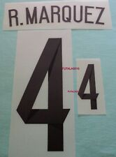 R. Marquez # 4 Mexico 2014 Authentic Away Player Name And Number Set