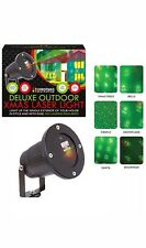 Deluxe 40ft Xmas Outdoor 6 Pattern Laser Light Projector Christmas Decoration