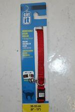 """Cat It Cat Collar Adjustable w/ bell 8-13"""" Red, Breakaway"""