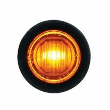 One Amber LED Amber Lens Mini Clearance Marker Light w/ Rubber Grommet