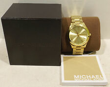 Michael Kors Reloj De Pulsera Mujer Slim Dorado MK3179 5ATM en caja orig.