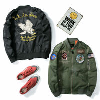 Men's jacket MA1 Flight Bomber Baseball Coat Jacket Embroidery Eagle Outwear