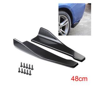 2PCS Car Bumper Spoiler Accessories Rear Lower Lip Splitter Diffuser Protector