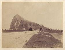 Gibraltar Espagne UK Photo Vintage albumine ca 1875