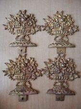 Antique Vintage  Brass Bronze Furniture Ornate 4 Total