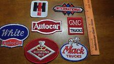 VINTAGE TRUCKING INTERNATIONAL HI  GMC MACK TRUCK AUTOCAR   PATCHES BX U #6