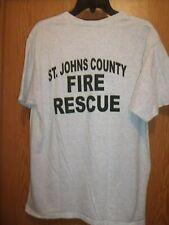 ST JOHNS County FL Fire Rescue gray L t shirt
