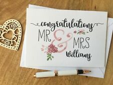 Personalised Wedding Day Card Mr Mrs Marriage Married Congratulations