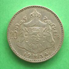 1934 Belgium Silver 20 Francs SNo48179