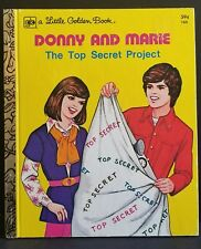 Donny & Marie Osmond The Top Secret Project Little Golden Book 160  Laura French