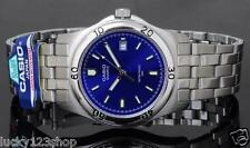 MTP-1213A-2A Blue Casio Men's Watches Stainless Steel Analog Water Resistant New