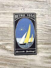 "Retro 1951 ""Smooth Sailing"" Writing Paper Notepad NOS"