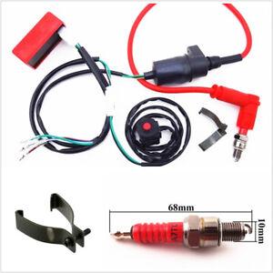Professional Motorbike Dirt ATV Wiring Harness Kill Switch Ignition Coil CDI Set