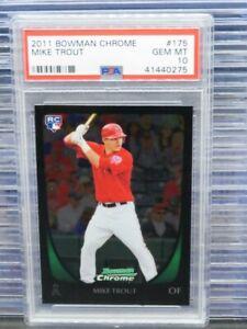 2011 Bowman Chrome Mike Trout Rookie Card RC #175 PSA 10 GEM MINT Angels P36
