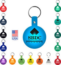 Personalized Circle Flexible Key tags Imprinted With Your Logo + Text - 250 Qty