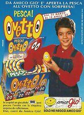 X2914 Amico giò - Pesca Ovetto - Pubblicità 1993 - Advertising