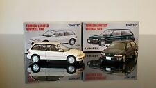 Tomica Limited Vintage Neo 1/64 LV-N182a+b Honda Civic EF9 SiR II Grn+White set