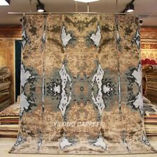 YILONG 8'x10' Handknotted Wool Area Rug Abstract Modern Indoor Carpet P006