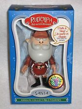 NEW SANTA - Rudolph The Red-Nosed Reindeer Talking SANTA Collectable Figurine