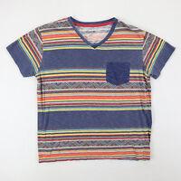 Carbon Navajo Surfer Striped Pocket T-Shirt SMALL Thin soft Nicley Faded Beach