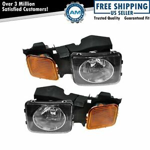 Headlights Headlamps Left & Right Pair Set NEW for 06-10 Hummer H3 H3T