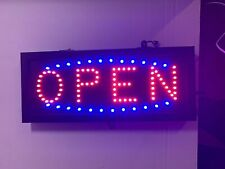 Open Led Sign Window Display Animated 3 Speeds Size 16X7 With Hanging Chain