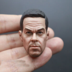 1/6 Scale Male Mark Wahlberg Head Sculpt Carving for 12'' Action Figure Body