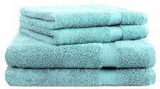Betz lot de 4 serviettes turquoise 2 serviettes de toilette 2 serviettes de bain