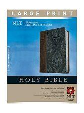 Premium Slimline Reference Bible NLT Large Print TuTone Free Shipping