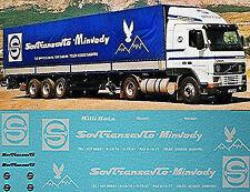 VOLVO sovtransavto-minvody blanco blanco 1:87 ADHESIVO PEGATINA Camión