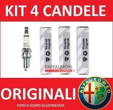 KIT 4 CANDELE ORIGINALI ALFA ROMEO 159 BRERA SPIDER 4C GIULIETTA 1.8 TBI TURBO