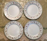 """Abingdon Fine Porcelain China Dinner Plate 10 3/8"""" Japan Set of 4"""