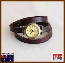 Women Leather Strap Brown Vintage Quartz Watch Wristwatch Antique 2016 Hot Gift