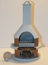 Dollhouse Miniature Cape Cod Outdoor Fireplace 1:12  one inch scale A65 A61