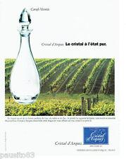 PUBLICITE ADVERTISING 016  1996  CRISTAL D' ARQUES  carafe Vicomte