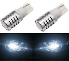 LED Light 5W White 5000K 168 T10 Two Bulbs License Plate Tag Upgrade JDM Stock