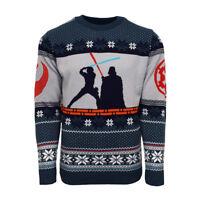 Official Star Wars Luke Vs Darth Christmas Jumper / Ugly Sweater