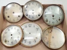 Lot Of 6 Antique Mantel Shelf Clock Dials Parts Repair