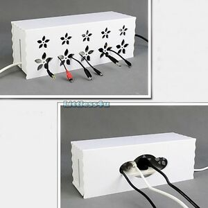 Flower Cable Power Plug Storage Box Case Cord Wire Socket Safety Tidy Organiser