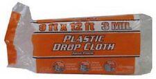 12 ea BERRY PLASTICS 626248 9' x 12' 3 MIL EXTRA HD PLASTIC DROP CLOTH
