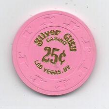 Old 25 Cent Poker Chip Silver City Casino Las Vegas