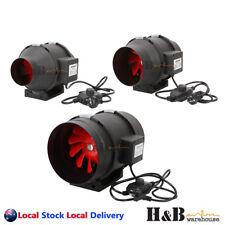 "4"" 6"" 8 "" Inline Exhaust Fan Ventilation Tube Duct W/ Speed Controller"