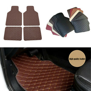 Car Floor Mats Front & Rear Liner Waterproof PU Leathe Mat For Four Seasons
