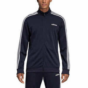 Adidas Men's Tricot Track Jacket - Blue (Size: S-XXL) Signature 3-Stripe Sleeve