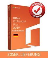 Microsoft Office 2019 Professional Plus Lizenz Key, 32&64bit, Vollversion