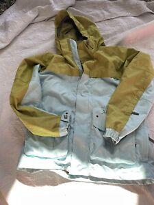 Burton Ronin La Cosa Nostra Green/ Blue Snowboarding Jacket Size L