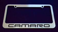 1 CHEVROLET CAMARO LICENSE PLATE FRAME, CHROME METAL